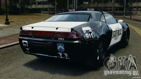 NFSOL State Police Car для GTA 4 вид сзади слева