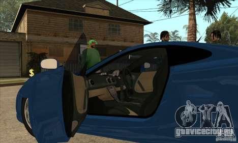 Ascari KZ1 для GTA San Andreas вид изнутри