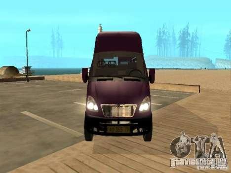 ГАЗель 32213 маршрутное такси для GTA San Andreas вид справа