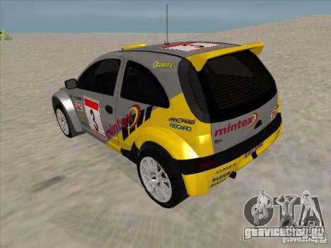 Opel Rally Car для GTA San Andreas вид сзади слева