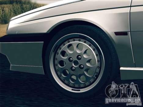 Alfa Romeo 155 1992 для GTA San Andreas вид снизу