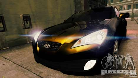 Hyundai Genesis Coupe 2010 для GTA 4 вид сзади слева
