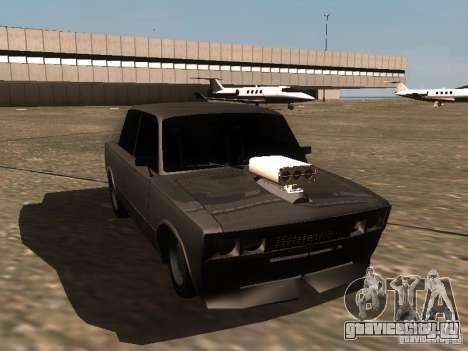 ВАЗ 2106 Drag Racing для GTA San Andreas вид изнутри
