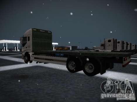 Iveco Stralis Long Truck для GTA San Andreas вид сзади слева