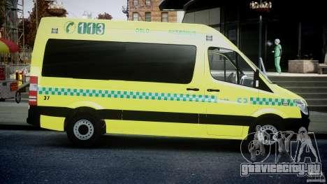 Mercedes-Benz Sprinter PK731 Ambulance [ELS] для GTA 4 вид изнутри