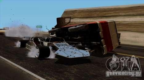 Flip Car из Furious 6 для GTA San Andreas вид сверху