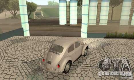 Volkswagen Beetle 1963 для GTA San Andreas вид слева