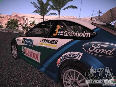 Ford Focus RS WRC 2006 для GTA San Andreas вид сзади