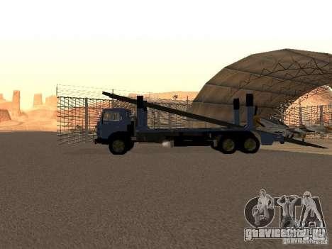 КамАЗ автовоз для GTA San Andreas вид сзади слева