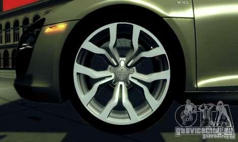 Audi R8 5.2 FSI Quattro для GTA San Andreas вид справа