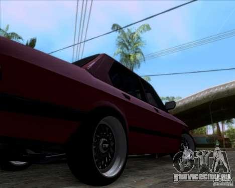 BMW 5-er E28 для GTA San Andreas вид изнутри