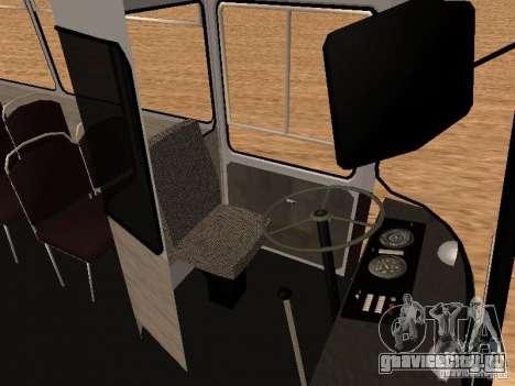 ЛАЗ 695Н для GTA San Andreas вид изнутри