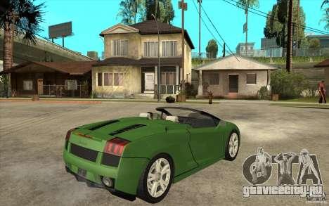 Lamborghini Gallardo Spyder для GTA San Andreas вид справа
