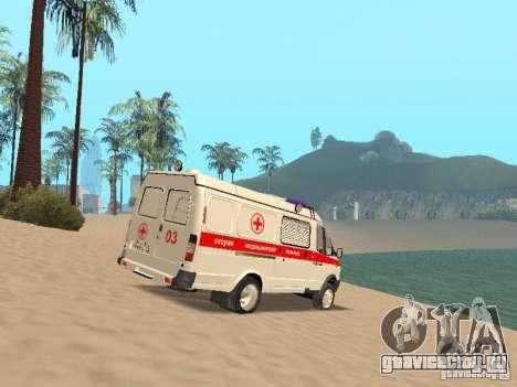 ГАЗель 2705 Скорая помощь для GTA San Andreas вид справа