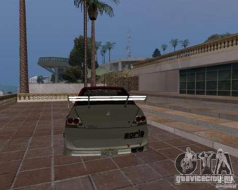 Mitsubishi Lancer Evolution VIII для GTA San Andreas вид сверху