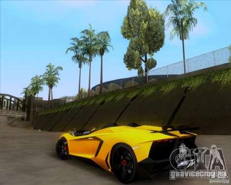 Lamborghini Aventador J TT Black Revel для GTA San Andreas вид сзади