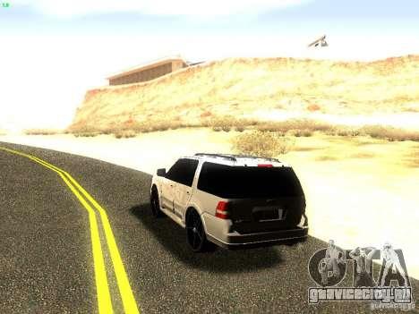 Ford Expedition 2008 для GTA San Andreas вид сзади