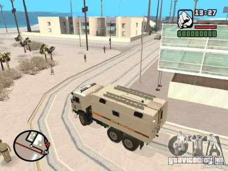 Камаз МЧС version 2 для GTA San Andreas вид сзади слева