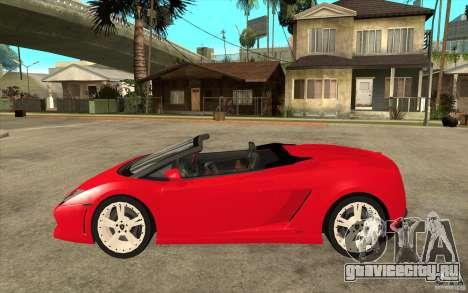 Lamborghini Gallardo LP560 Spider для GTA San Andreas вид слева
