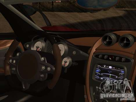 Pagani Huayra 2012 для GTA San Andreas вид сбоку