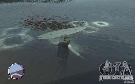 Доска для сёрфинга для GTA 4 вид слева