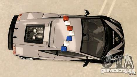 Lamborghini Gallardo Police для GTA Vice City вид справа