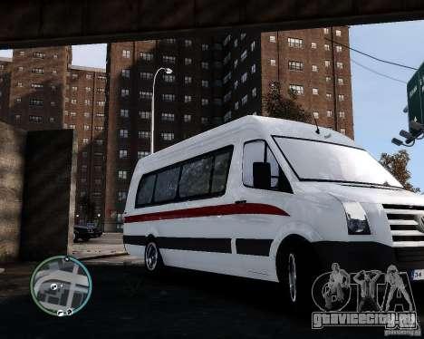 Volkswagen Crafter Turkish Schoolbus для GTA 4 вид слева