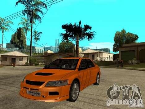 Mitsubishi Lancer Evo IX MR Edition для GTA San Andreas вид сбоку