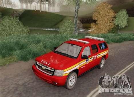 Chevrolet Suburban EMS Supervisor 862 для GTA San Andreas вид сзади слева