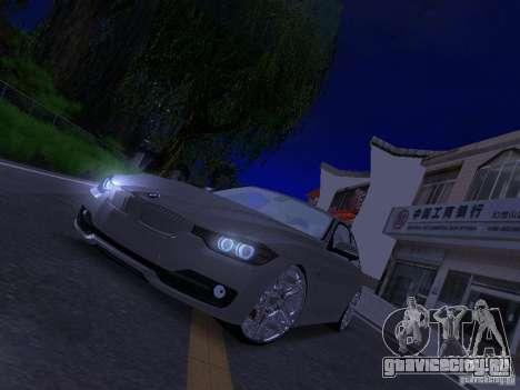 BMW 335i F30 Coupe для GTA San Andreas вид сзади