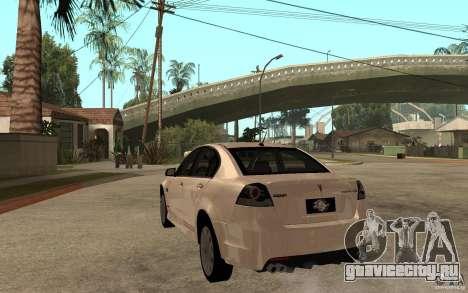 Pontiac G8 GXP 2009 для GTA San Andreas вид сзади слева