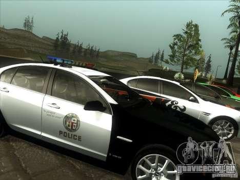 Pontiac G8 Police для GTA San Andreas вид сзади слева