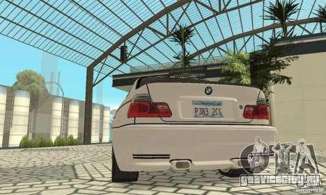 BMW M3 Tunable для GTA San Andreas двигатель