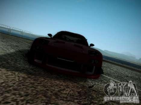 Mazda RX7 Drift для GTA San Andreas вид изнутри