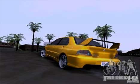 Mitsubishi Lancer Evolution IX 2006 для GTA San Andreas вид сбоку