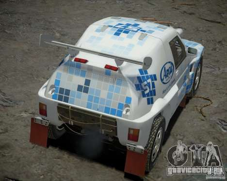 Mitsubishi Pajero Proto Dakar EK86 винил 3 для GTA 4 вид сзади