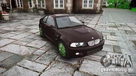 BMW M3 e46 2005 для GTA 4 вид сзади
