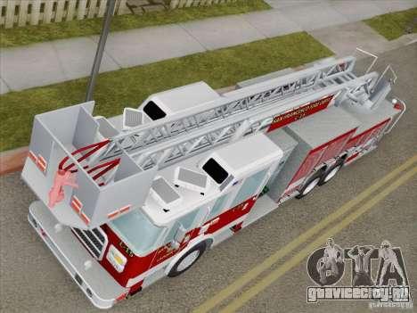 Pierce Aerials Platform. SFFD Ladder 15 для GTA San Andreas вид изнутри