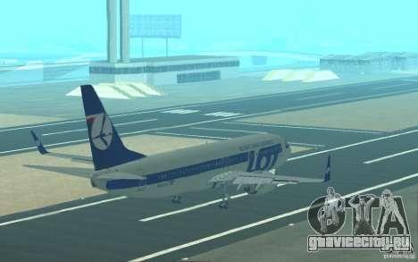 Boeing 737 LOT Polish Airlines для GTA San Andreas салон