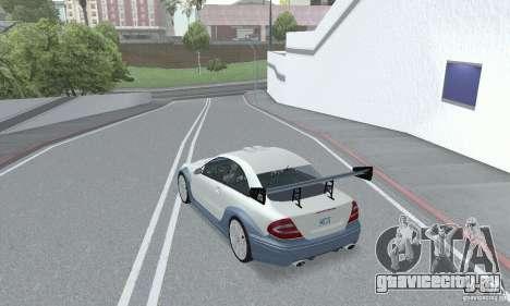 Mercedes-Benz CLK DTM AMG для GTA San Andreas вид изнутри