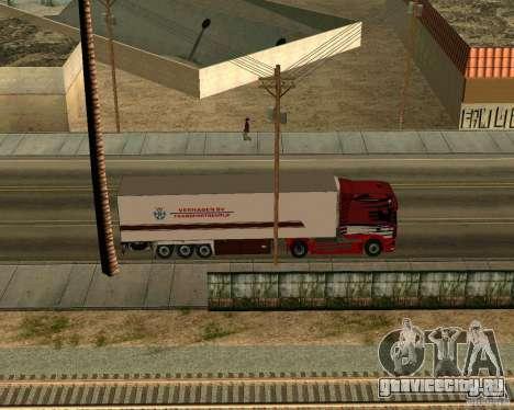 Scania TopLine для GTA San Andreas вид сзади