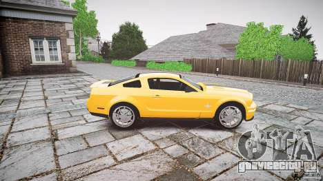 Shelby GT 500 KR 2008 K.I.T.T. для GTA 4 вид изнутри