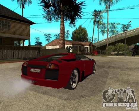 Lamborghini Murcielago SHARK TUNING для GTA San Andreas вид сзади слева