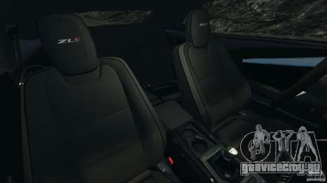 Chevrolet Camaro ZL1 2012 v1.2 для GTA 4 вид изнутри