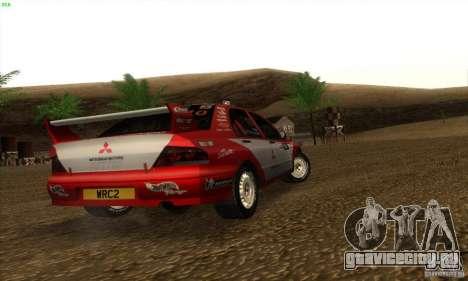 Mitsubishi Lancer Evolution VII для GTA San Andreas вид сзади слева
