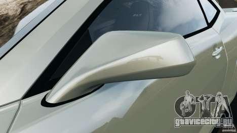 Chevrolet Camaro ZL1 2012 v1.2 для GTA 4 салон