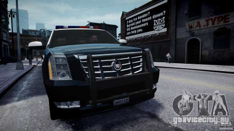 Cadillac Escalade Police V2.0 Final для GTA 4 вид справа