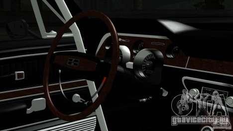 Shelby GT500 1969 для GTA San Andreas вид справа