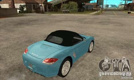 Porsche Boxster S 2010 для GTA San Andreas вид справа