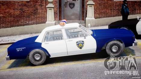 Chevrolet Impala Police 1983 для GTA 4 вид сбоку